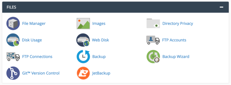 Manage files cpanel